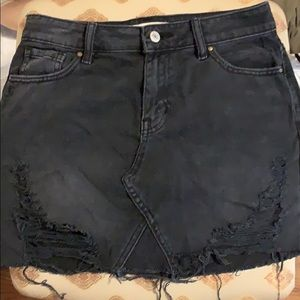 black jean skirt - worn once